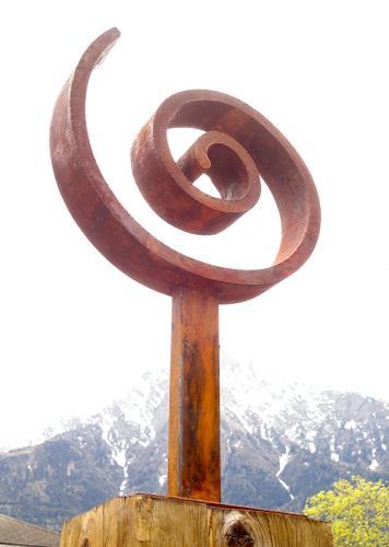 e.w. bregy, eisenplastik: lebensspirale, Glauben, Abstrakte Kunst