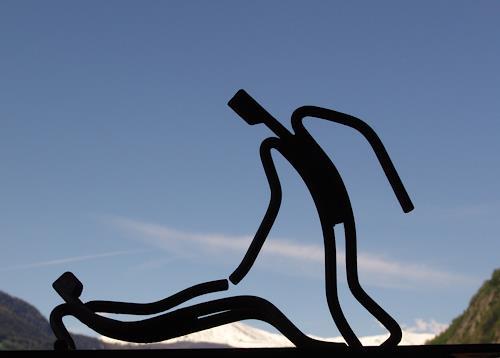 e.w. bregy, eisenplastik: barmherzigkeit, Fantasie, Glauben, Abstrakte Kunst