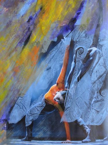 e.w. bregy, Tänzerin, Menschen: Frau, Gegenwartskunst, Expressionismus