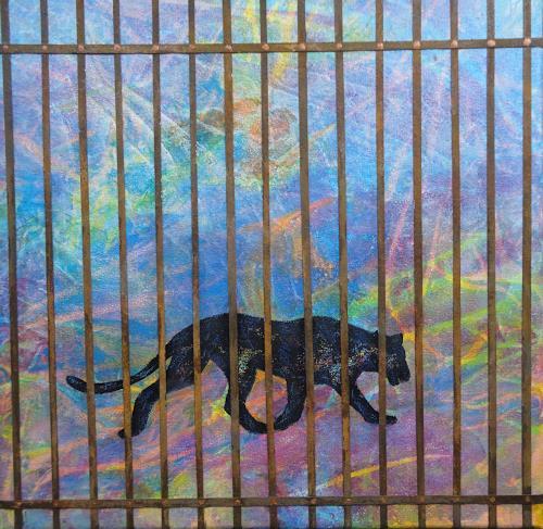 e.w. bregy, Hommage à R.M. Rilke: der panther, Tiere: Land, Gegenwartskunst