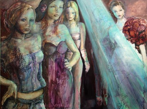 Beate Hildebrandt, Catwalk, Fashion, Gegenwartskunst, Abstrakter Expressionismus