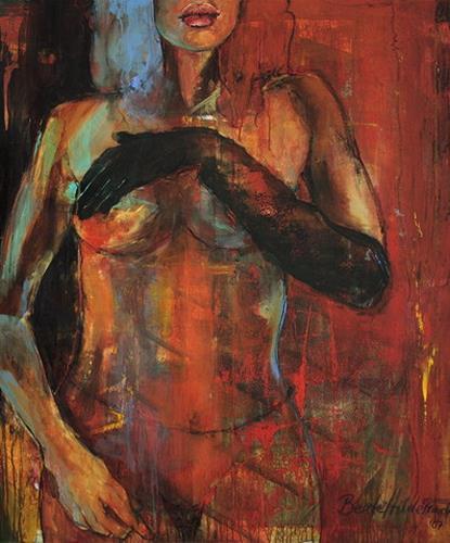 Beate Hildebrandt, Erotische Begegnung II, Akt/Erotik: Akt Frau, Menschen: Frau, Gegenwartskunst, Abstrakter Expressionismus