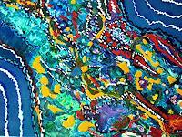 Brigitte-Raz-Goldau-Dekoratives-Natur-Wasser-Gegenwartskunst--Gegenwartskunst-