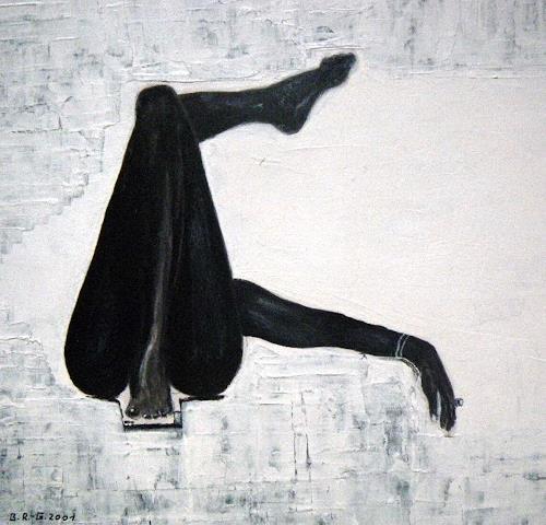 Brigitte Raz-Goldau, relax, Akt/Erotik: Akt Frau, Freizeit, Gegenwartskunst, Abstrakter Expressionismus