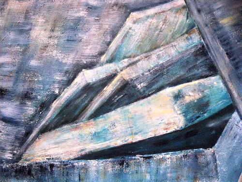 Brigitte Raz-Goldau, Felsenplatten in Domodossola, Fantasie, Natur: Gestein, Gegenwartskunst