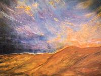 Brigitte-Raz-Goldau-Landschaft-Berge-Natur-Erde-Gegenwartskunst--Gegenwartskunst-