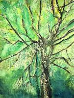 Brigitte-Raz-Goldau-Pflanzen-Baeume-Natur-Wald-Gegenwartskunst--Gegenwartskunst-