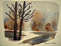 Brigitte-Raz-Goldau-Landschaft-Herbst-Natur-Wald-Gegenwartskunst--Gegenwartskunst-