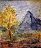 Brigitte-Raz-Goldau-Landschaft-Berge-Natur-Gestein-Gegenwartskunst--Gegenwartskunst-