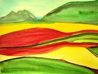 Brigitte-Raz-Goldau-Landschaft-Ebene-Diverse-Landschaften-Gegenwartskunst--Gegenwartskunst-