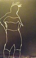 Brigitte-Raz-Goldau-Menschen-Portraet-Fashion-Gegenwartskunst--Gegenwartskunst-