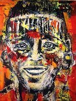 Brigitte-Raz-Goldau-Menschen-Gesichter-Menschen-Mann-Gegenwartskunst--Gegenwartskunst-
