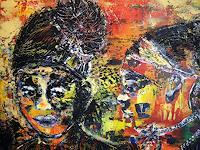 Brigitte-Raz-Goldau-Gefuehle-Geborgenheit-Menschen-Gesichter-Gegenwartskunst--Gegenwartskunst-