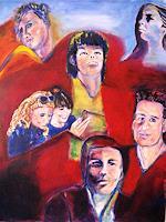 Brigitte-Raz-Goldau-Menschen-Gesichter-Gesellschaft-Gegenwartskunst--Gegenwartskunst-