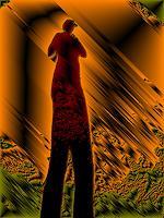 Brigitte-Raz-Goldau-Abstraktes-Menschen-Frau-Gegenwartskunst--Gegenwartskunst-