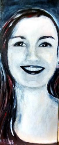 Brigitte Raz-Goldau, Frauenporträt, Menschen, Menschen: Gesichter, Gegenwartskunst