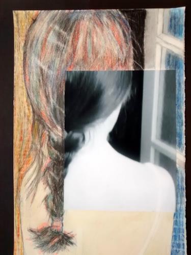 Brigitte Raz-Goldau, Warten, Menschen: Frau, Diverse Gefühle, Gegenwartskunst, Abstrakter Expressionismus