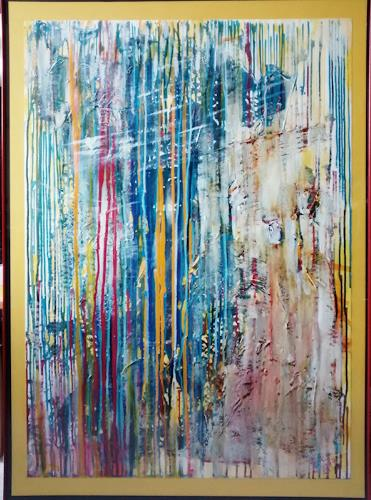 Brigitte Raz-Goldau, Die Kreativität, Abstraktes, Gefühle: Freude, Action Painting