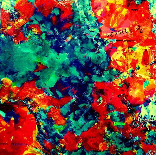 Brigitte Raz-Goldau, Blumenrausch 2, Abstraktes, Pflanzen: Blumen, Gegenwartskunst