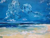 Brigitte-Raz-Goldau-Landschaft-Strand-Natur-Wasser-Gegenwartskunst-Gegenwartskunst