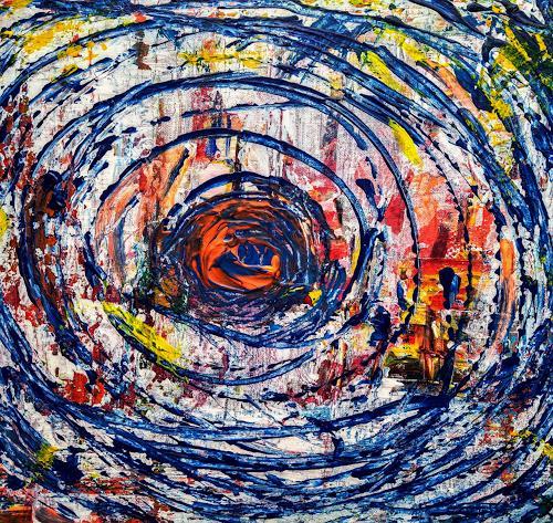 Brigitte Raz-Goldau, Herausforderung C. 1, Abstraktes, Gefühle, Gegenwartskunst