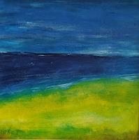 Brigitte-Raz-Goldau-Landschaft-See-Meer-Landschaft-Strand-Gegenwartskunst-Gegenwartskunst