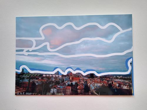 Brigitte Raz-Goldau, Urban landscapes Basel, Wohnen, Landschaft: Winter, Gegenwartskunst, Abstrakter Expressionismus
