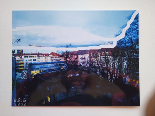 Brigitte Raz-Goldau, Urban landscapes Basel 5, Landschaft: Winter, Wohnen, Gegenwartskunst