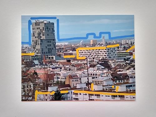 Brigitte Raz-Goldau, Städtische Landschaften Basel, Landschaft: Winter, Bauten, Gegenwartskunst