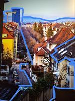 Brigitte-Raz-Goldau-Landschaft-Winter-Architektur-Gegenwartskunst-Gegenwartskunst