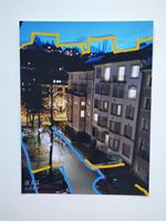 Brigitte-Raz-Goldau-Landschaft-Winter-Diverse-Bauten-Gegenwartskunst-Gegenwartskunst