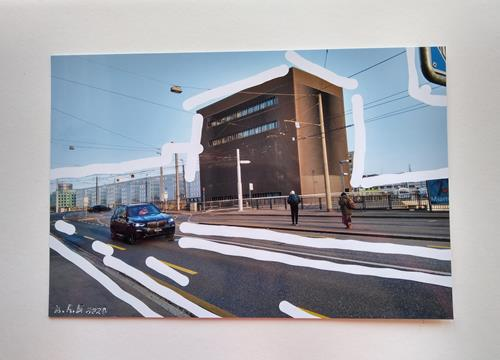 Brigitte Raz-Goldau, Urban landscapes Basel 1-10, Landschaft: Winter, Architektur, Gegenwartskunst, Abstrakter Expressionismus
