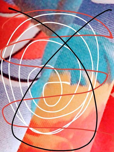 Brigitte Raz-Goldau, Wo geht es hin?, Skurril, Abstraktes, Abstrakte Kunst