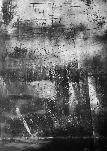 Brigitte Raz-Goldau, Felsengestein  1-8 Nr. 2, Abstraktes, Skurril, Abstrakte Kunst