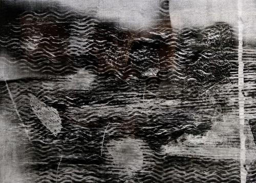Brigitte Raz-Goldau, Felsengestein  1-8 Nr. 4, Abstraktes, Skurril, Abstrakte Kunst