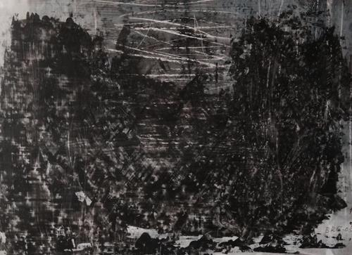 Brigitte Raz-Goldau, Felsengestein im Tessin 1-8 Nr. 7, Abstraktes, Skurril, Abstrakte Kunst, Abstrakter Expressionismus