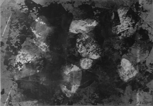 Brigitte Raz-Goldau, Felsengestein im Tessin 1-8 Nr. 8, Abstraktes, Skurril, Abstrakte Kunst