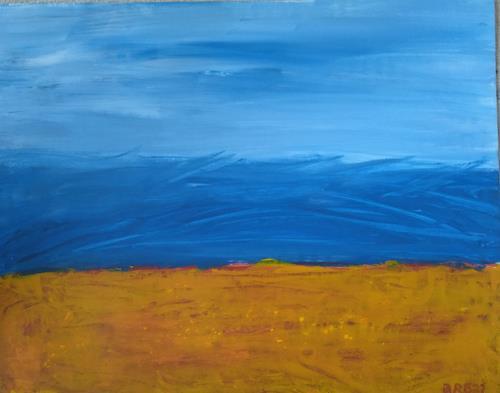 Brigitte Raz-Goldau, Freiheit, Landschaft: See/Meer, Abstraktes, Abstrakte Kunst