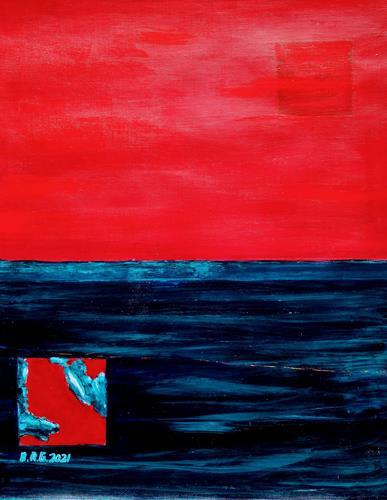 Brigitte Raz-Goldau, Fernweh, Abstraktes, Gefühle, Abstrakte Kunst, Abstrakter Expressionismus