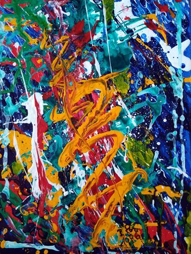 Brigitte Raz-Goldau, Gefühle 1996, Gefühle, Abstraktes, Abstrakte Kunst