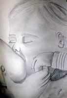 C. Manzo-D'Angelo, Kind beim stillen