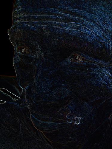 OMAR, african eyes II / 143, Menschen: Porträt, Natur: Erde, Abstrakter Expressionismus