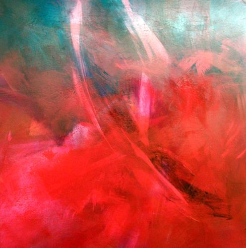 OMAR, Eisengel trägt Rot / 176, Abstraktes, Expressionismus