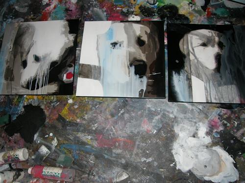 OMAR, auf den Hund gekommen / Auftragsarbeit / 251, Tiere, Diverse Tiere, Abstrakter Expressionismus