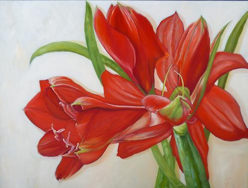 Anne Petschuch, Amaryllis, Pflanzen: Blumen, Realismus, Expressionismus