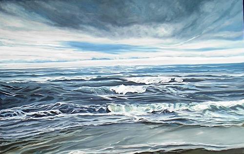 Anne Petschuch, Sylt, Natur: Wasser, Landschaft: See/Meer, Realismus, Expressionismus