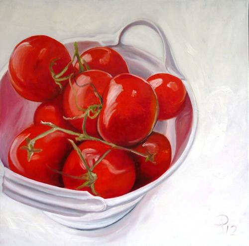 Anne Petschuch, Tomaten, Pflanzen, Essen, Realismus, Expressionismus