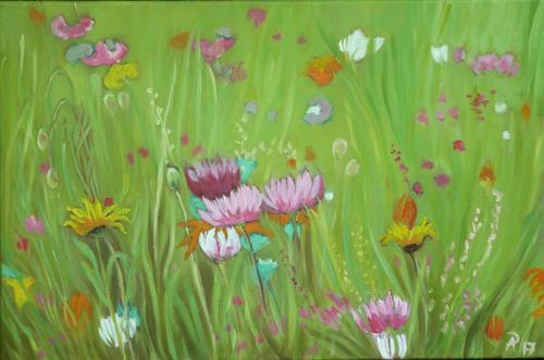 Anne Petschuch, Blumenwiese 14, Pflanzen, Natur, Abstrakte Kunst
