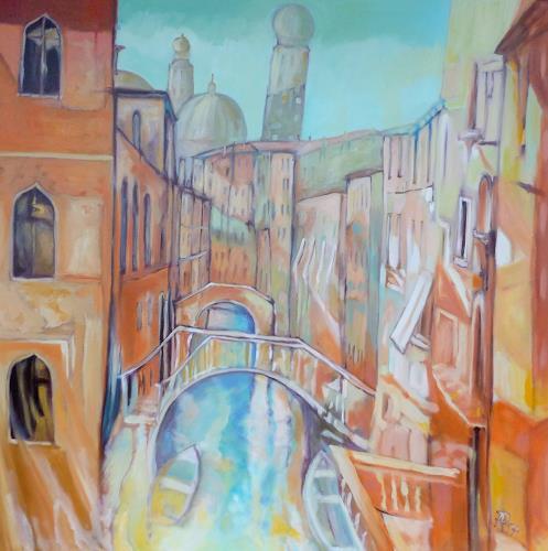 Anne Petschuch, Venice 02, Architektur, Wohnen: Stadt, Impressionismus