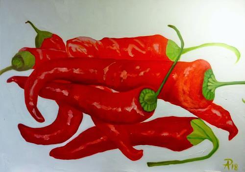 Anne Petschuch, Pepperoni 04, Pflanzen: Früchte, Essen, Realismus